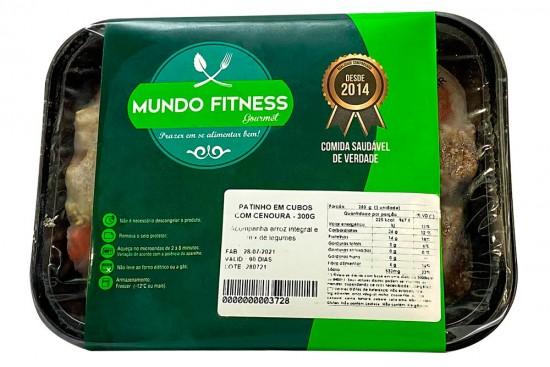 PATINHO EM CUBOS COM CENOURA 300G MUNDO FITNESS