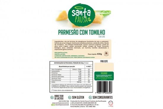 PAO DE PARMESAO COM TOMILHO LOW CARB 430G SANTA PAUSA