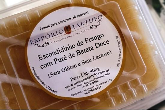 ESCONDIDINHO DE FRANGO COM BATATA DOCE 400G