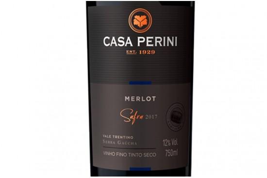 VINHO MERLOT 750ML CASA PERINI