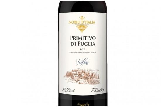 VINHO PRIMITIVO PUGLIA VENTURI 750ML NOBILI D'ITALIA