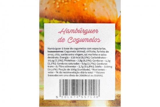HAMBURGUER DE COGUMELOS 400G GRAO NA BRASA
